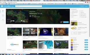 La plateforme Dailymotion Games dédiée au streaming de jeu vidéo.