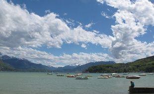 Vue du Lac d'Annecy, en Haute-Savoie.