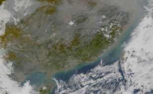 Le voile noir de pollution qui se forme chaque année au-dessus de l'Asie