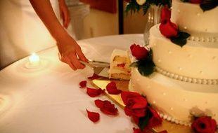 Illustration d'un gâteau de mariage.