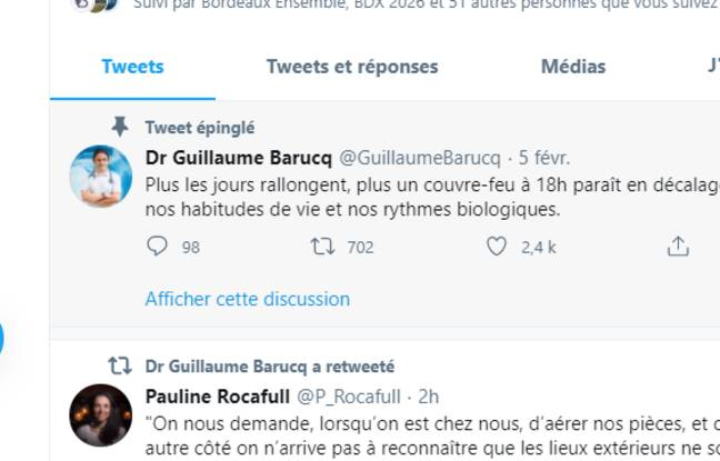 Le Dr GuillaumeBarucq affirme que le couvre-feu, en Pyrénées-Atlantiques, est contre-productif