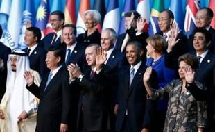 Une photo de famille de quelques uns des chefs d'Etat réunis le 15 novembre 2015 pour le G20 à Antalya, au sud de la Turquie