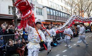 Le défilé du Nouvel an chinois l'an dernier, à Paris.