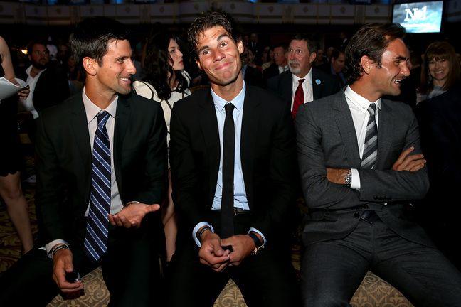 Nadal qui fait marrer tout le monde devant Djoko, on l'avait pas vue venir celle-là.