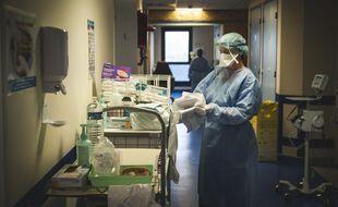 Dans un hôpital de Grasse, le 22 janvier 2021.