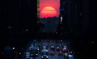 Manhattanhenge 2013, illustration.