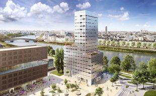 La tour «360 View» sera érigée face à la Loire, sur l'ancien îlot Brossette.