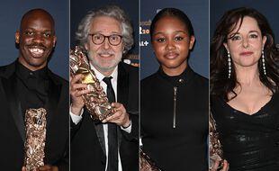 Jean-Pascal Zadi, Nicolas Marié, Fathia Youssouf et Laure Calamy lors des César 2021