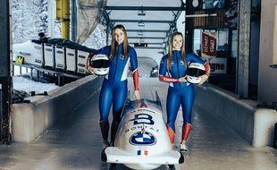 Carla Sénéchal et Margot Boch forment le seul équipage de bobsleigh français depuis l'été 2018.