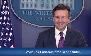 Josh Earnest, porte-parole de la Maison blanche.