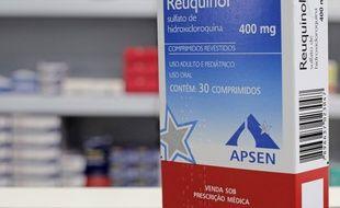 Une boîte d'hydroxychloroquine, au Brésil, le 17 juin 2020.
