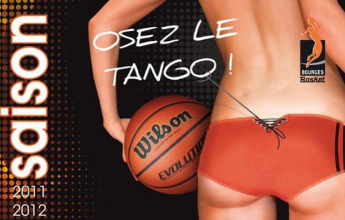 Campagne d'affichage du club de Bourges Basket, lors de la saison 2011-2012. – Capture d'écran/20minutes.fr