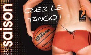 Campagne d'affichage du club de Bourges Basket, lors de la saison 2011-2012.