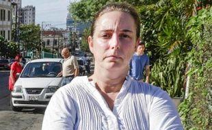 L'artiste cubaine Tania Bruguera à La Havane le 31 décembre 2014