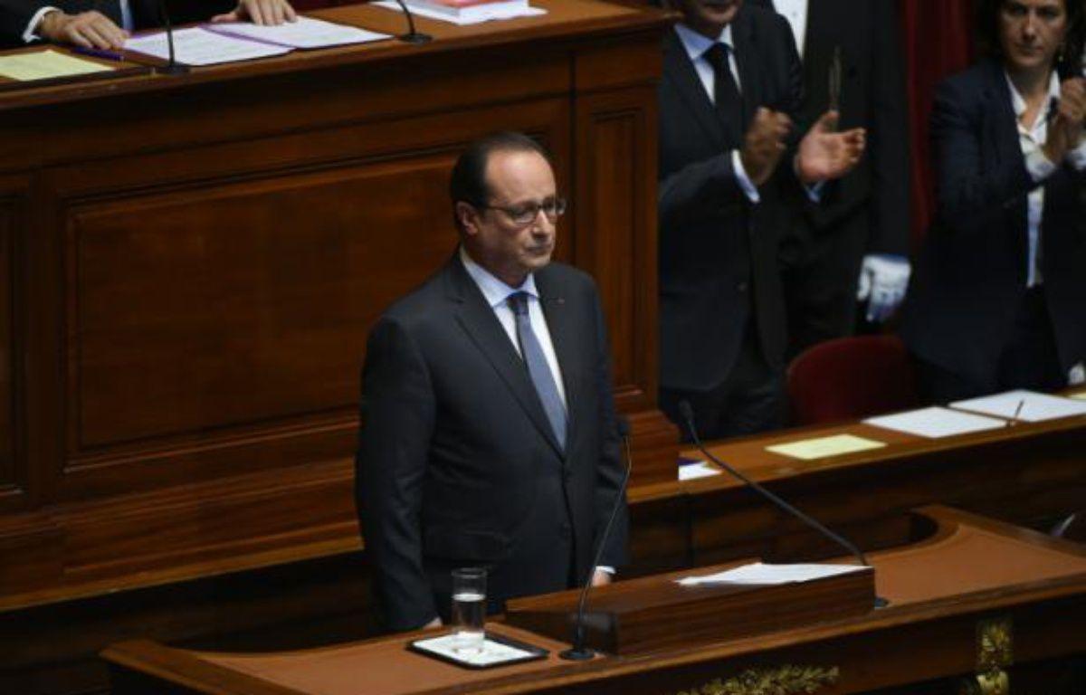 Le président François Hollande devant le Congrès à Versailles le 16 novembre 2015 – STEPHANE DE SAKUTIN POOL