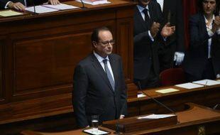 Le président François Hollande devant le Congrès à Versailles le 16 novembre 2015