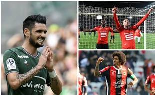 Rémy Cabella, Dante, Joris Gnagnon et Wahbi Khazri sont à la lutte pour une place en Ligue Europa.