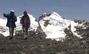 Le glacier Pastoruri, au Pérou, victime du réchauffement climatique.