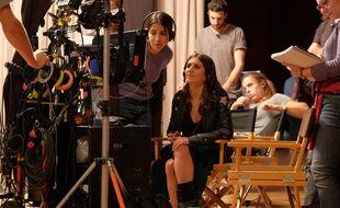 Géraldine Nacache et Leïla Bekhti sur le tournage de «J'irais où tu iras»