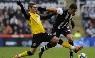 L'attaquant de newcastle Hatem ben Arfa, le 7 janvier 2012, contre Blackburn, à Saint-James park.