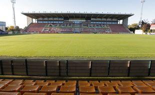Mouscron, le 10 octobre 2012. Le club de football belge evoluant en 2eme division (Belgacom League), Royal Mouscron Peruwelz, dont le LOSC est devenu actionnaire majoritaire l'ete dernier.