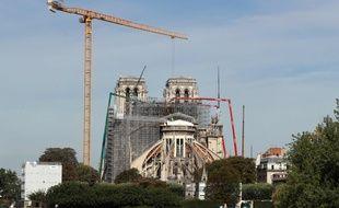 L'orgue va être démonté et retiré provisoirement de Notre-Dame, ici le 22 juillet 2020.