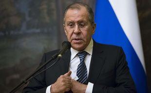 Sergeï Lavrov, le 29 mars 2018 à Moscou. AP Photo/Alexander Zemlianichenko.