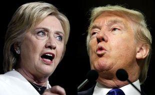 Photomontage d'Hillary Clinton et Donald Trump.