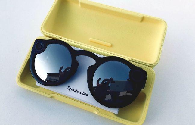 Les Spectacles se rechargent jusqu'à quatre fois dans leur boîte de rangement avec batterie incorporée.