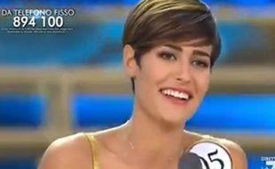 Miss Italie, Alice Sabatini lors de son élection le 20 septembre 2015