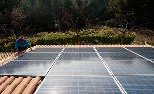 Photo illustration panneau solaire photovoltaique