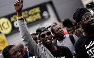Lors d'une marche en mémoire à Adama Traoré, le 20 juillet.