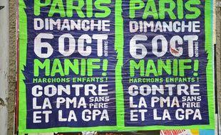 Des affiches pour la manifestation