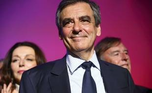 François Fillon lors de son meeting à Montpellier le 14 avril 2017.