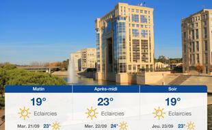 Météo Montpellier: Prévisions du lundi 20 septembre 2021
