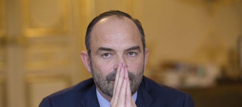 Le Premier Ministre Edouard Phillipe à Matignon.