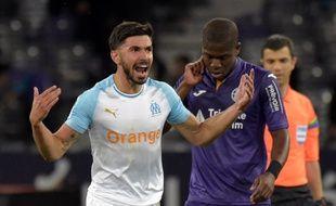 Le Marseillais Morgan Sanson, buteur au Stadium de Toulouse, le 18 mai 2019.