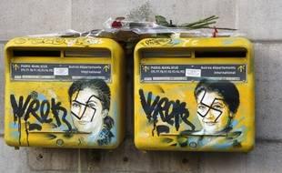 Les portraits de Simone veil vandalisé par des graffitis antisémites