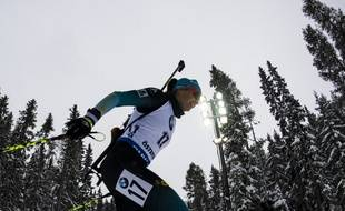 Julia Simon lors du sprint d'Ostersund.