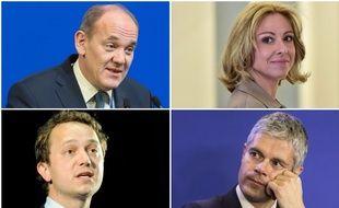 Les 4 candidats à la présidence du parti Les Républicains.