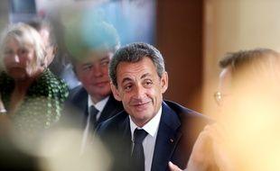 Le candidat à la primaire à droite Nicolas Sarkozy