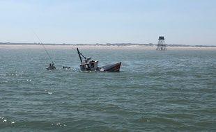 Le bateau de pêche l'Etoile, qui a sombré au large de Calais, le 24 juin 2020.