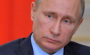Le président Vladimir Poutine le 21 janvier 2015, dans sa résidence près de Moscou