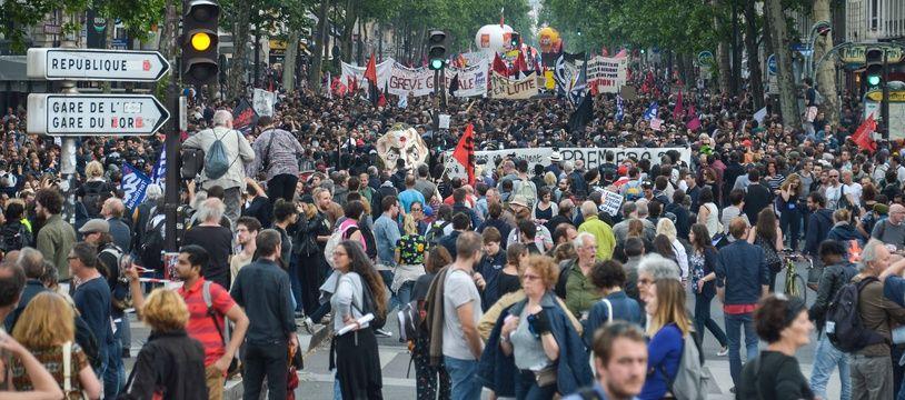 Manifestation des fonctionnaires le 22 mai 2018, à Paris.