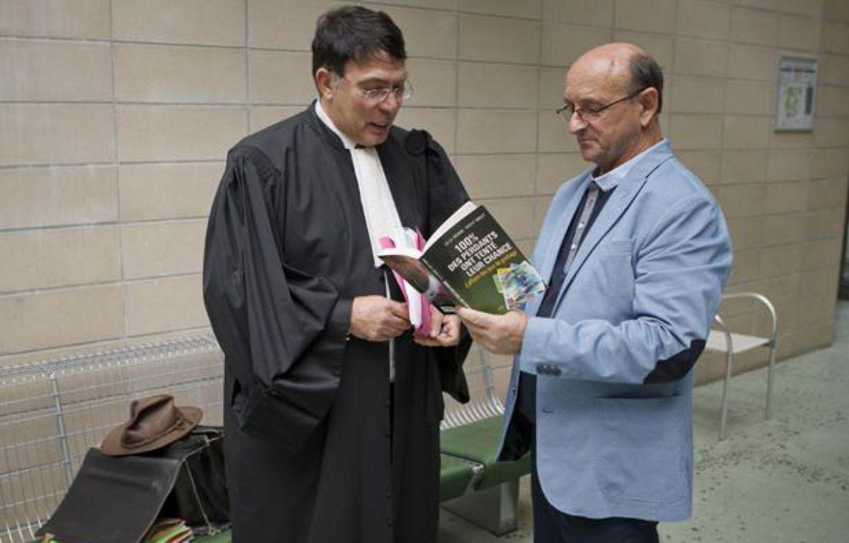 Robert Riblet, le plaignant qui porte plainte contre la FDJ, au tribunal de Nanterre, le 27 mai 2013. – A. GELEBART / 20 MINUTES