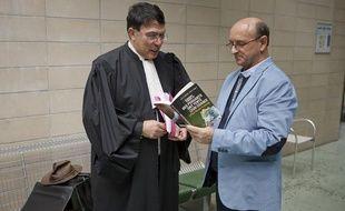 Robert Riblet, le plaignant qui porte plainte contre la FDJ, au tribunal de Nanterre, le 27 mai 2013.