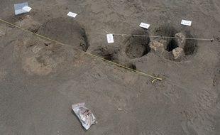 Illustration d'une fouille archéologique.