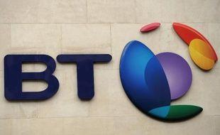 Le logo de BT Group à Londres