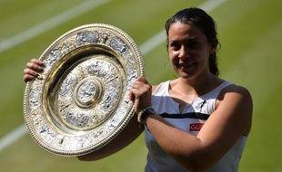 Marion Bartoli, en 2013 à Wimbledon