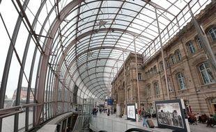 Le hall de la gare de Strasbourg le 6 octobre 2014.